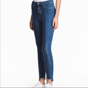 H&M Two-Tone Skinny Jeans